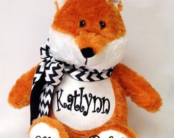 """Personalized 16"""" Plush Fox Stuffed Animal"""