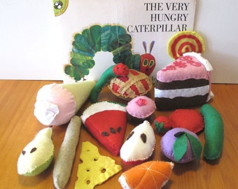 The Very Hungry Caterpillar Children's Book, Felt Play Food Set,