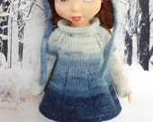"handmade Outfit for Disney Animators 15"" doll - blue multicolour Dress, Hat & Tights"