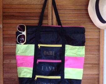 Zippered beach bag | Etsy