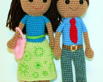 PDF PATTERN: Caleb & Sophia Meeting Clothes Doll - 2 Pack **Crochet Patterns Only! Not Actual Dolls!!!***