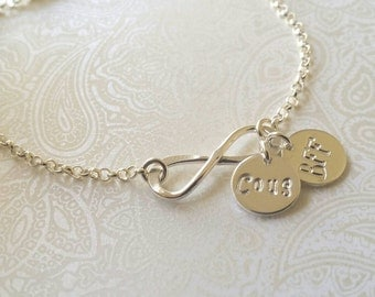 Infinity Cousin and BFF Bracelet Sterling Silver--Gift for Cousin