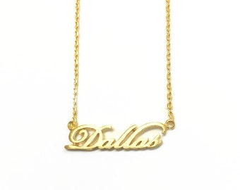 """Tiny Gold """"Dallas"""" Necklace - Dainty, Simple, Birthday Gift, Wedding Bridesmaid Gift"""