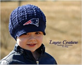 Crochet Newsboy Hat with Patch
