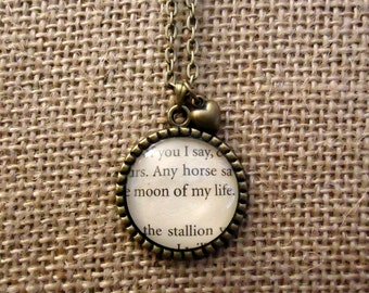 Moon of My Life Book Page Necklace - Game of Thrones