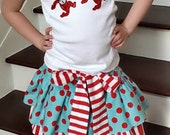 Girls Dr. Seuss Dr. Suess Thing 1 Thing 2 Shirt Skirt outfit Skirt Set