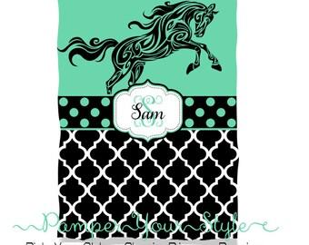 Horse Blanket - Horse Riding Blanket - Horse Gift - Throw Blanket - Personalized Blanket