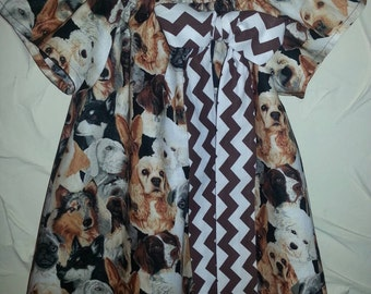 Girls puppy dog print dress.