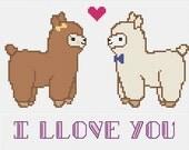 PDF Pattern- Llama Love Cross Stitch Pattern