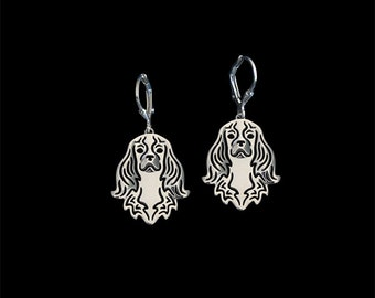 Cavalier King Charles earrings - sterling silver