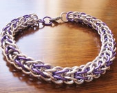 Purple Anodized Aluminum Chainmaille Bracelet-Full Persian