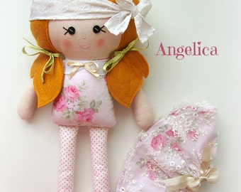 Angelica - Top Knot Fabric Doll Collection :)
