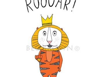 Lion Roar! Childrens Bedroom Poster