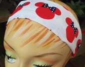 Minnie Mouse Headband - 100% Cotton - Red White & Blue