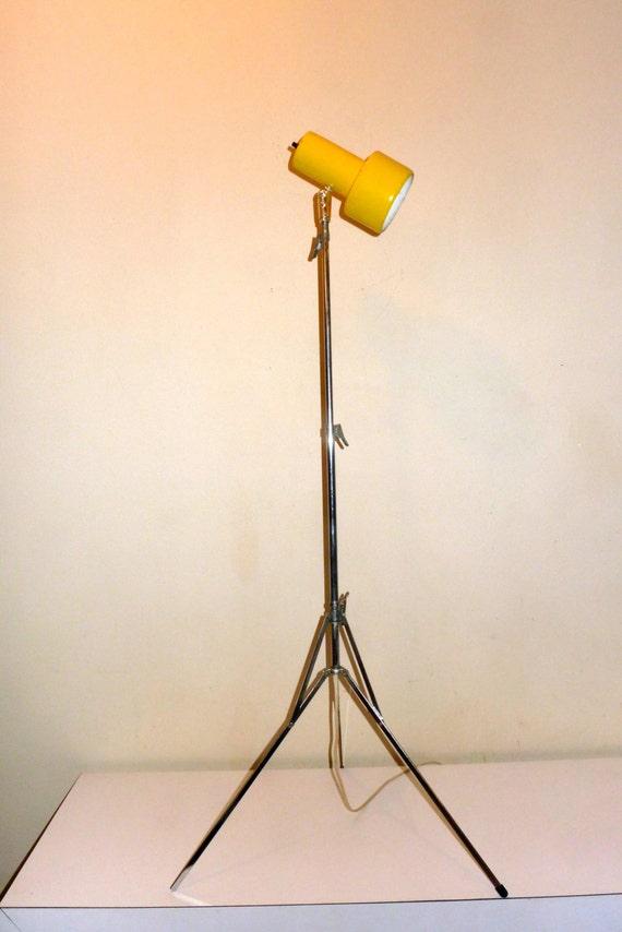 Telescoping chrome spot light lamp gilbert yellow by for Yellow metal floor lamp