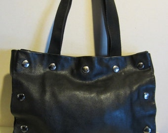 Superb Italian leather bag, buttersoft black leather, Italy, Moschino Jeans, Italy mint!!