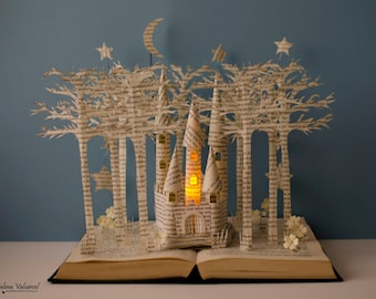 Fairytale Castle - Book Sculpture - Book Art - Altered Book - Made to Order - ON SALE