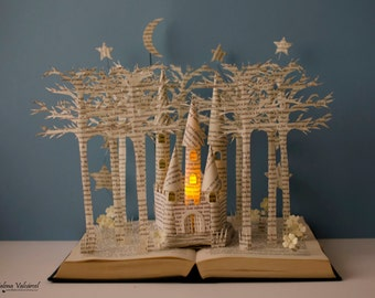 Fairytale Castle - Book Sculpture - Book Art - Altered Book - Made to Order
