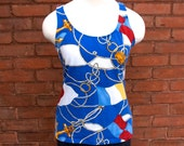 SALE Ralph Lauren Sailor Flags Nautical Navy Blue Tank Top