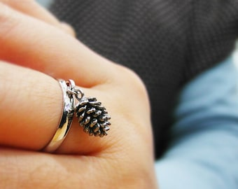 Pine Cone Ring, Forest Ring, Wintet Jewelry