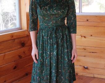 Vintage Paisley 60s Dress