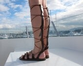 "Knee High Gladiator Leather Sandals. Available in 6 colors. ""Artemis"" ARTS05"