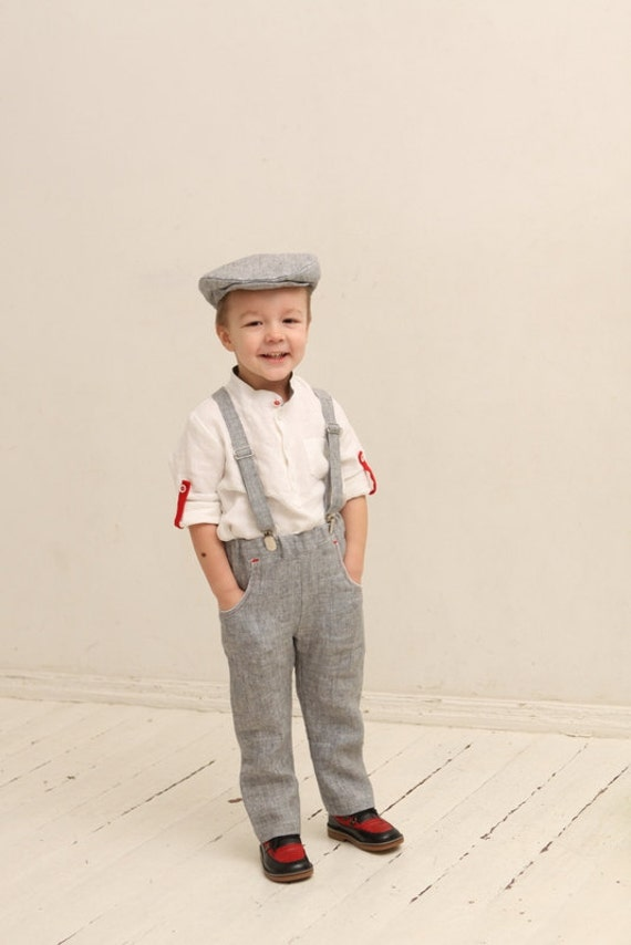 Boys Pants And Suspenders Ring Bearer Pants Wedding Party Set