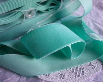 AQUA Velvet Ribbon, Imported Vintage