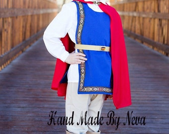 Snow White Prince Costume - Boy, Youth Prince Costume - Toddler Birthday Red Cape - Photo Prop Event Costume - Dress Up Disney Party Costume