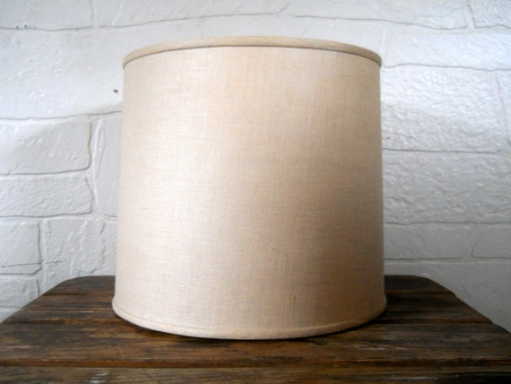 Mid Century Lampshade Drum Lamp Shade Large By