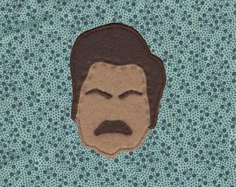 Handmade Ron Swanson patch