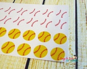 Baseball/Softball Planner Sticker - Size Customize-able - round