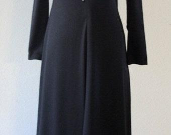 Vintage 1960s Edie Gladstone Stylish Black Butterfly Dress