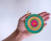 Mandala - Felt Ornament - Teal