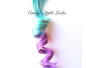 Hair Extensions, Poppy Pastel, Dip Dye, Ombre Rainbow,Clip in Human Hair Extensions