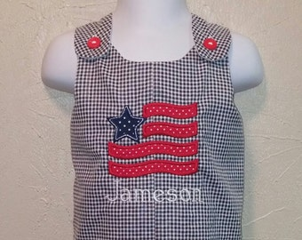 Boys 4th of July Shortalls - Buy 3 or more get 10% off...