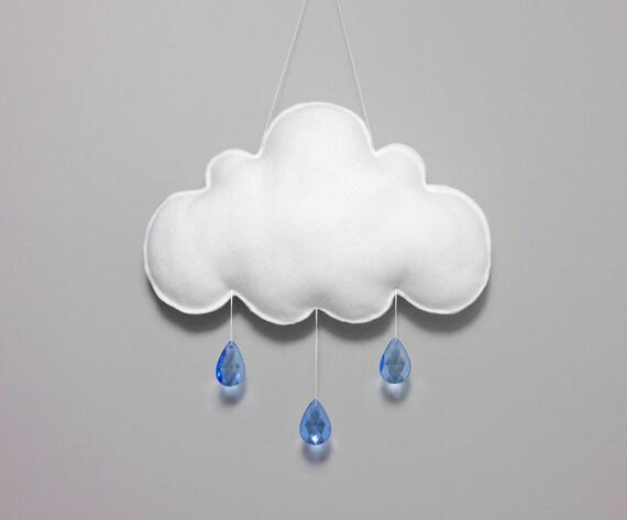 Articles similaires nuages et gouttes de pluie tenture - Tenture chambre bebe ...