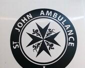 St. John Ambulance Logo   Doctor Dr Who inspired TARDIS Door Decal   Turn your door into a TARDIS!