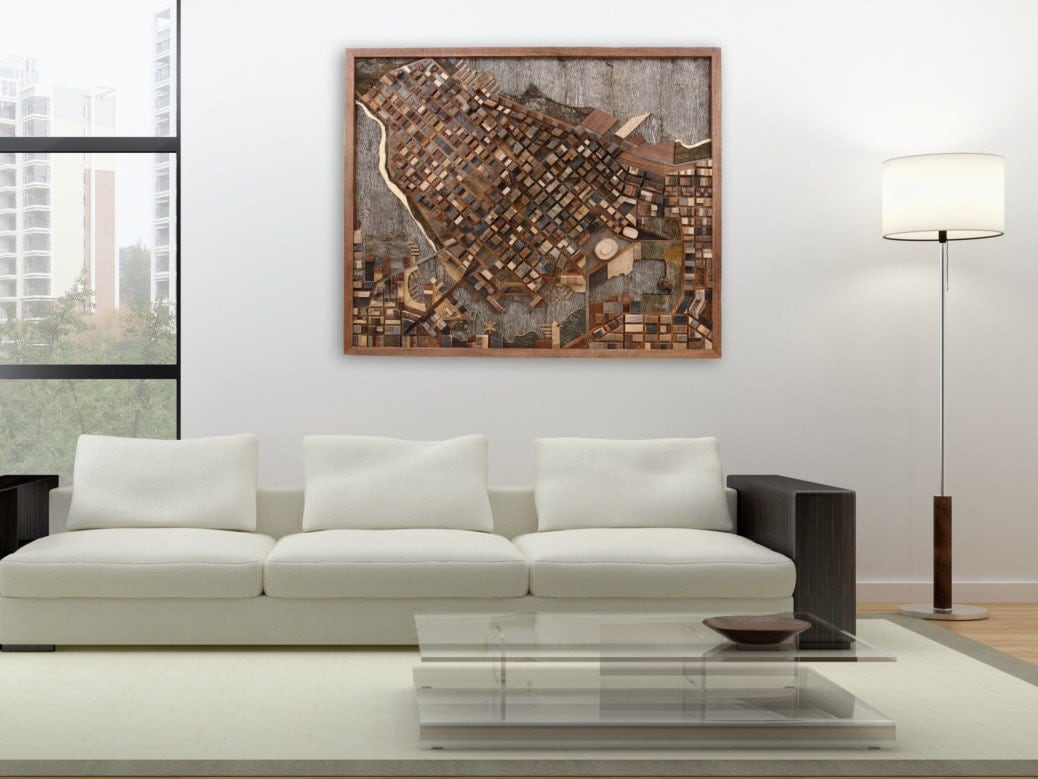 Large Wood Wall Art reclaimed wood wall art of a circuit board 48 wide x 24