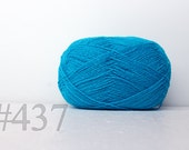 WOOL yarn 100%-knitting yarn -  bright blue #437