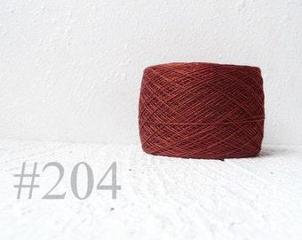 Laceweight Linen yarn - cherry brown #204