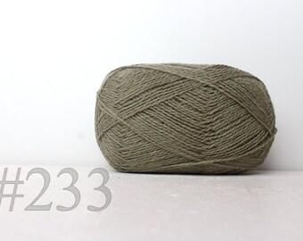 WOOL yarn 100%-knitting yarn - sage green #233
