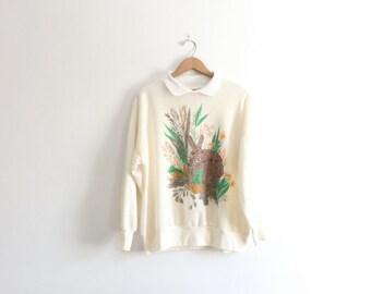 Spring Bunny 80s Sweatshirt