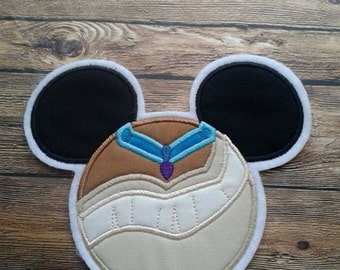 Pocahontas Mouse Head Applique ~ Iron On ~ No Sew ~ Embroidered Patch