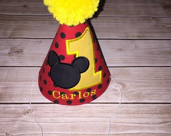 Personalized Mickey Mouse Party Hat
