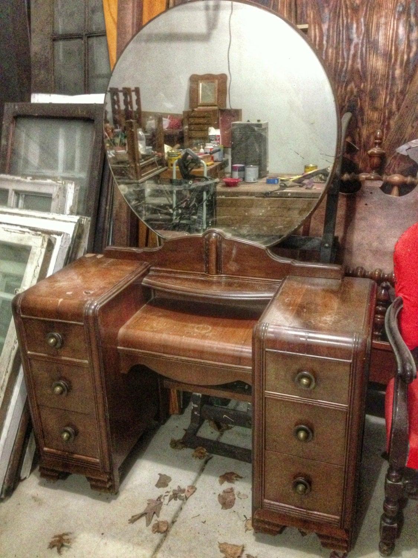 Customize Vintage Vanity desk painted furniture chalk