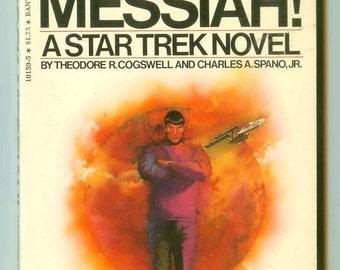 Vintage Spock Messiah! Star Treck Novel Book Paperback 1st Edition Bantam Printing 1976