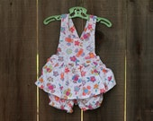 Vintage Girly OshKosh Romper/Overalls - Size 24 months