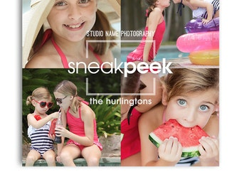 Sneak Peek Template - Summer Mini Session Photography Marketing - SUMMERTIME - 1405