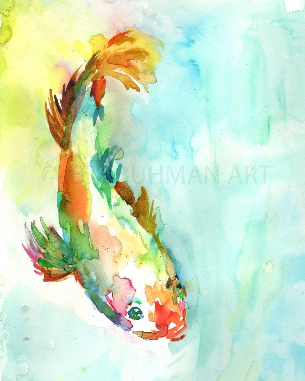 Watercolor Koi Fish Koi Fish Painting Wate...